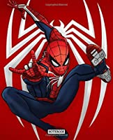 Notebook: Notebook Amazing Spiderman Peter Parker Comic Cute Drawing Photo Art Soft Glossy Wide Ruled Fantastic with Ruled Lined Paper for Taking Notes Writing Workbook for Teens and Children Students School Kids Spiderman Lovers