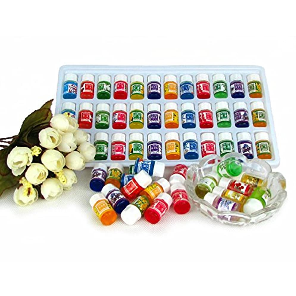 カスケード報復する暗唱するHongch ピュアラベンダーエッセンシャルオイル 毎日パックセット ナチュラル36pcs / lot 水溶性 12種類の香り 毎日