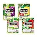 【2018年 春夏Ver 】 マンナンライフ 蒟蒻畑 4種 ぶどう味 白桃味 りんご味 ピンクグレープフルーツ味(25g×12個)合計48個
