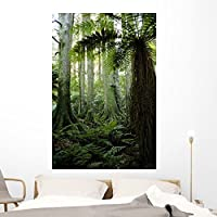Tropical Forest Wall Mural by Wallmonkeys Peel and Stick Graphic (60 in H x 40 in W) WM7893 [並行輸入品]