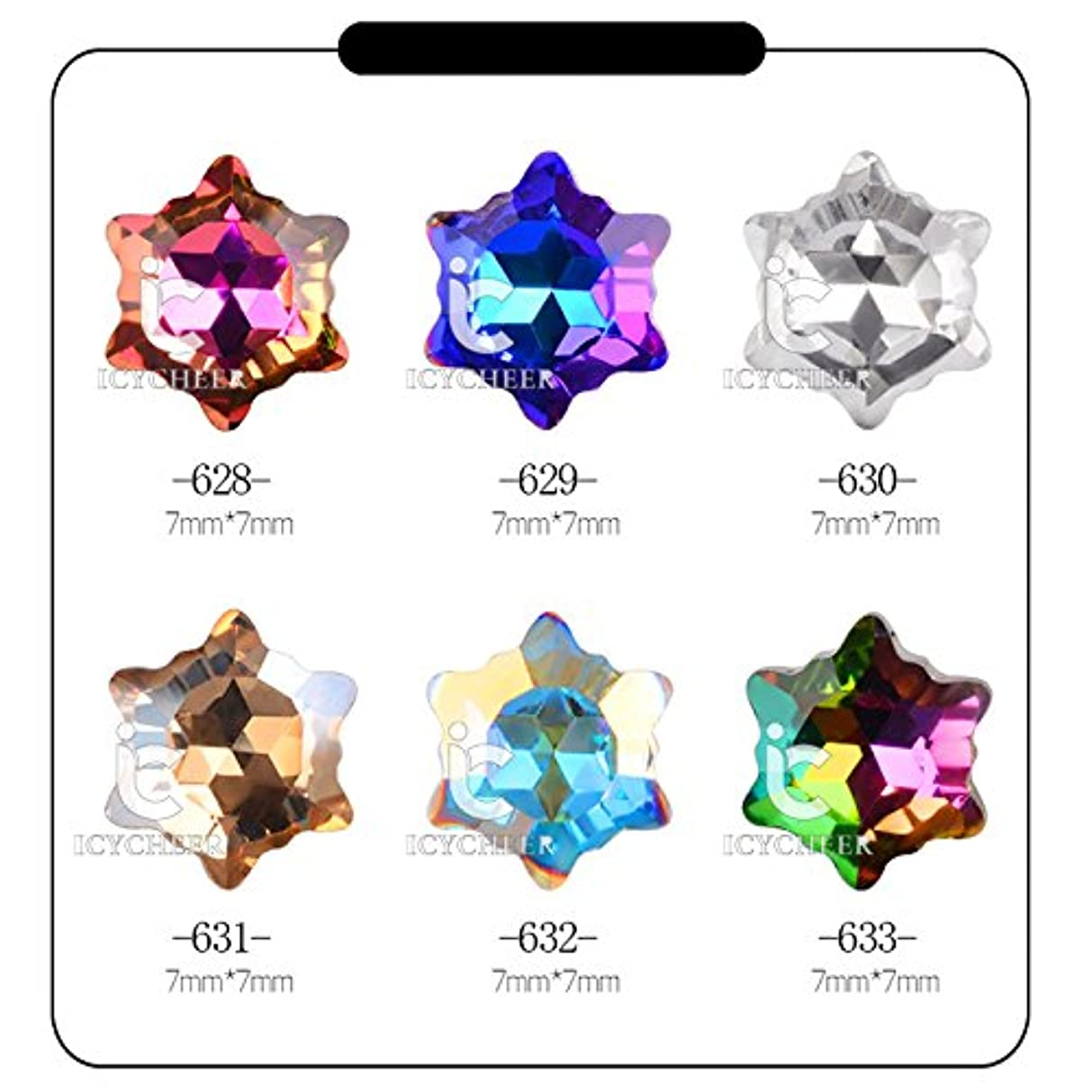 草想定する有能なICYCHEERホット3Dネイルアートラインストーングリッター宝石のアクリルのヒントデコレーションマニキュアホイール (629)