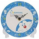 ドラえもん 置き時計 メラミントレークロック アナログ ブルー RM-5205