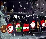 (ヤンググロり)YOGLY 雰囲気満点! 可愛い クリスマス ウォールステッカー サンタクロース トナカイ ツリー そり スノーマン 壁紙シール ウォールペーパー ウォールシール ガラス ステッカー