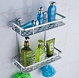 OBOR(オビオア) 浴室収納ラック バスラック バスグッズ アルミ製 お風呂場 洗面所 脱衣所 浴室 トイレ フック (2段)