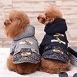 BXL ダッフルコート 犬服 冬服 おしゃれ かわいい わんちゃん 秋冬モデル 高品質 あったか ドッグウェア (XS, ネイビー)
