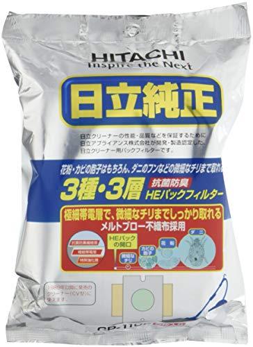日立(HITACHI) クリーナー用紙パック 抗菌防臭3種・3層HEパックフィルター 2袋(5枚×2)