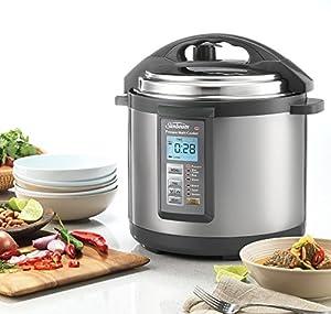 Sunbeam 6L Electronic Aviva Pressure Cooker, Stainless Steel