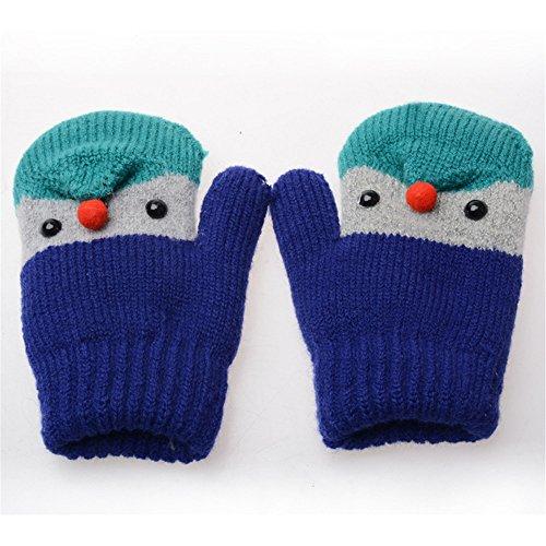 キッズ手袋 子供用 シンプル グローブ ウールニット手袋 防寒・・・