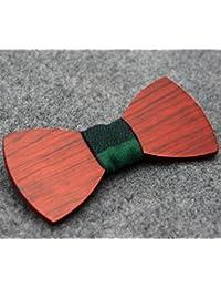 蝶ネクタイ ボウタイ 木製 YFWOOD レーザー彫刻 交換布結び付き おしゃれ 手作り
