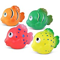 Puzzled Bath Buddies Collection - Orange, yellow, green and pink Reef Fish, Set of 4 by Puzzled [並行輸入品]