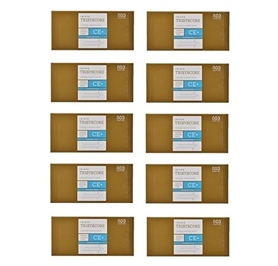 パーティション低下降伏【X10個セット】ナンバースリー トリシスコア CEプラス (ヘアトリートメント) 12g × 4包入り