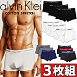 (カルバンクライン) Calvin Klein ボクサーパンツ ローライズ 3枚組みセット COTTON STRETCH 3 PACK LOW RISE TRUNK メンズ (XL, 【929】ブラック(マルチバンド)) [並行輸入品]