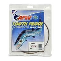 アメリカの釣りワイヤー歯プルーフステンレススチールシングルストランドリーダーワイヤー、サイズ3、迷彩ブラウン色、32ポンドテスト、1/4ポンドコイル