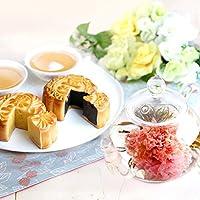 母の日 カーネーション茶 人気ランキング 花 お茶 お菓子 花咲く工芸茶10種と月餅2種 OHANAセット※茶器は付きません (母の日ラッピング)
