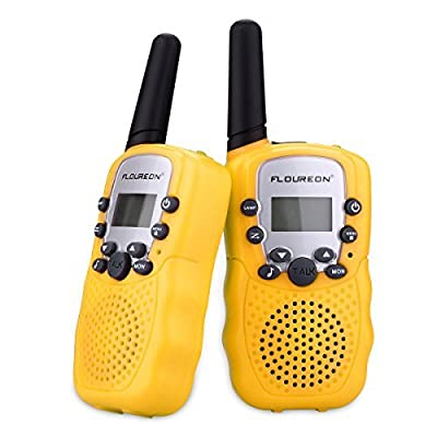 floureon Kids Toy Walkie Talkies Two Way Radios Walky Talky 22 Channel Long Range UHF Handheld Outdoor Kids Toy Cellphone for Children Day/ Birthday