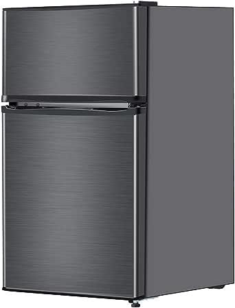 maxzen 冷蔵庫 90L 一人暮らし 2ドア マクスゼン コンパクト 小型 ガンメタリック JR090ML01GM