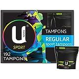 U By Kotex Sport Tampons, Regular (Pack of 192)