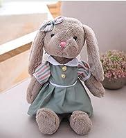 素敵で快適な 赤ちゃんソフトドレスウサギぬいぐるみロング40センチメートルドレスウサギは動物のおもちゃぬいぐるみ子供(緑、長い35センチメートル)