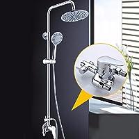 全銅明装でシャワーをかけて冷熱水をかけてシャワーを浴びることができる