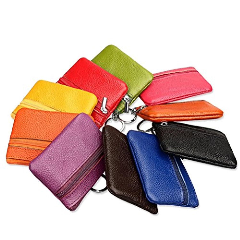5個のキャンディーの色小ジップバッグコイン財布の財布カードケース女性のための