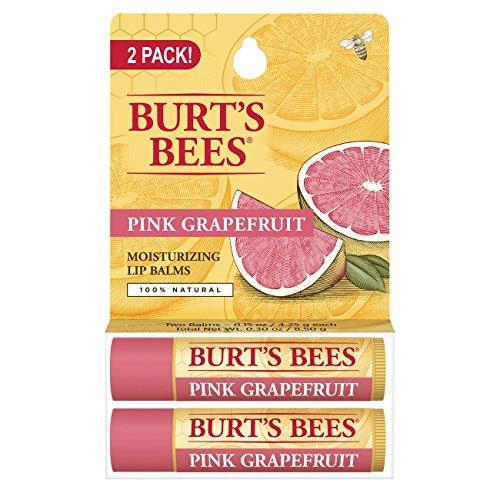 [海外直送品] バーツビーズ(Burt's Bees) さわやかな ピンクグレープフルーツ リップバーム 2PACK