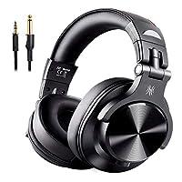 OneOdio ヘッドホン Bluetooth モニターヘッドホン 音源ミックス 音楽シェア 低音強化 有線 無線 密閉型 FuSion A7