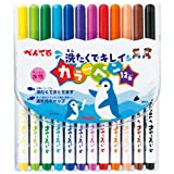 ぺんてる 水性ペン せんたくでキレイカラーペン SCS2-12 12色
