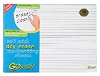 Pacon GoWrite! Dry Erase Self-Adhesive Handwriting Sheets 11 inches by 8 1/4 inches 30 Pack (ASB8511LN) [並行輸入品]