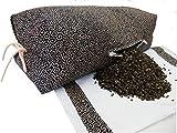 ふとんのかざおか 小さい坊主枕(唐草柄) 高さを自由に変えれるファスナー付 厳選そば殻使用 綿100% 日本製