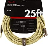 Fender シールドケーブル Deluxe Series Instrument Cable, Straight/Angle, 25', Tweed 08