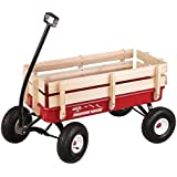 Duncan Toys Mountain Wagon - Pull-Along Wagon for Kids with Wooden Panels, All Terrain Tires, Wide Grip Handle, Wide Wheel Ba