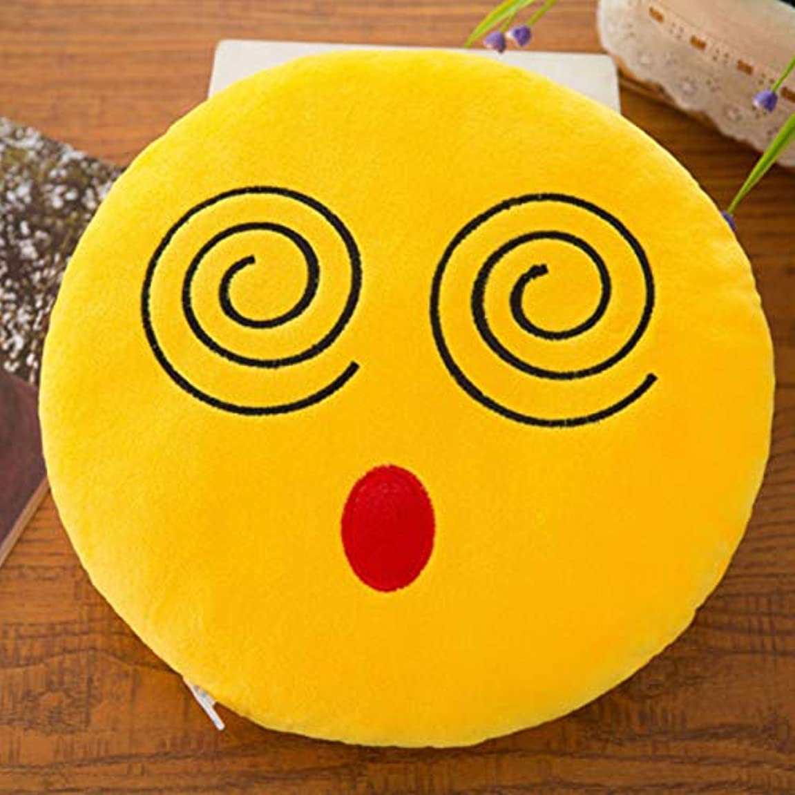 驚動的合唱団LIFE 40 センチメートルスマイル絵文字枕ソフトぬいぐるみ絵文字ラウンドクッション家の装飾かわいい漫画のおもちゃの人形装飾枕ドロップ船 クッション 椅子