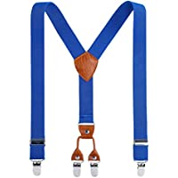Kids Adjustable Y Back Suspender-AWAYTR Boy Suspender with 4 Size and 4 Strong Clips for Kids Wedding Party Daily Suspender