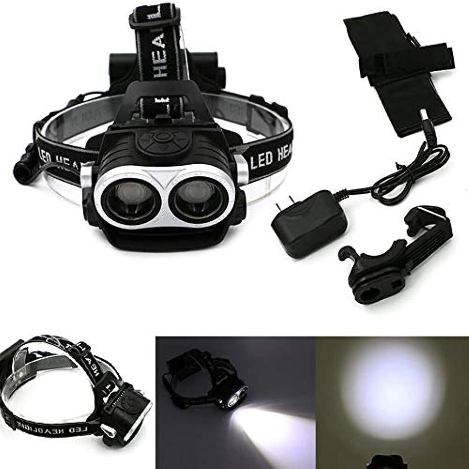 SymboatLEDヘッドライト ヘッドランプ 強力 高輝度 軽量 3モード 懐中電灯トーチライト+充電器 多機能 防水 釣り/防災/登山/作業用/地震対応