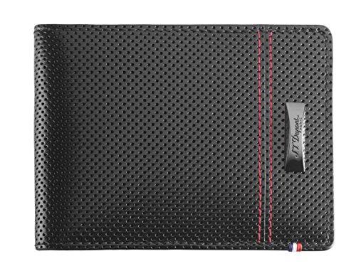 [エス・テー・デュポン] 【限定品2016年】McLaren by S.T.Dupont (マクラーレンby S.T.Dupont) 二つ折り財布 カード6枚収納 パンチングレザー レッドステッチング 170401MC 170401MC ブラック