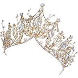 Yalztc-zyq16 王冠の絶妙な頭飾りの結婚式の花嫁の誕生日の頭飾りで飾られた豪華で美しいウォータードリルビット
