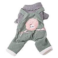 Wootbees 犬の服 防寒 厚手 ペット服 綿製 可愛い 小型犬 散歩服 ドッグウェア
