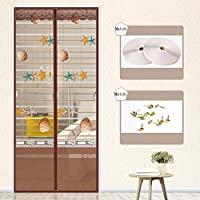 BMY 飛ぶスクリーンのドアの蚊帳のドア100 cm x 220 cm、接着剤、バルコニーのドアおよび居間のドアの半透明の磁石のカーテン。