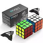0時から【タイムセール】スピードキューブ QOOH 競技専用ver.2.0 世界基準配色 2個 セット 回転スムーズ 予備のシール パズルスタンドつきが激安特価!
