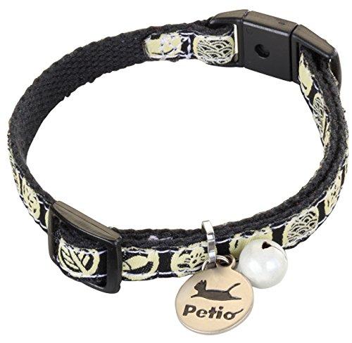 ペティオ (Petio) 首輪 猫小町カラー 猫紋 ブラック 猫用