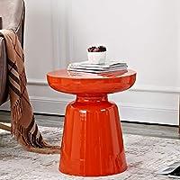 小さなコーヒーテーブル 家の居間のソファーの側面の足のテーブル、錬鉄製の多色の任意小さいコーヒーテーブル、テーブルの高さ43cmの円形のコーヒーテーブル (色 : I)