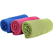 Cool Towel Headband Microfiber Cooling Towel Instant Chill Pad Altra Compact Soft Breathable Sport Towel Lightweight Chemical Free Idea for Workout Fitness Running Yoga 40''×12'' (Green)