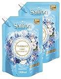 【まとめ買い】 香りサフロン 柔軟剤 コットンフラワーの香り 詰替用大容量 1100ml×2個