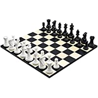 Purling Of London - Large Luxury Bold Chess Set in Black & Gloss White - 4 Inch Weighted