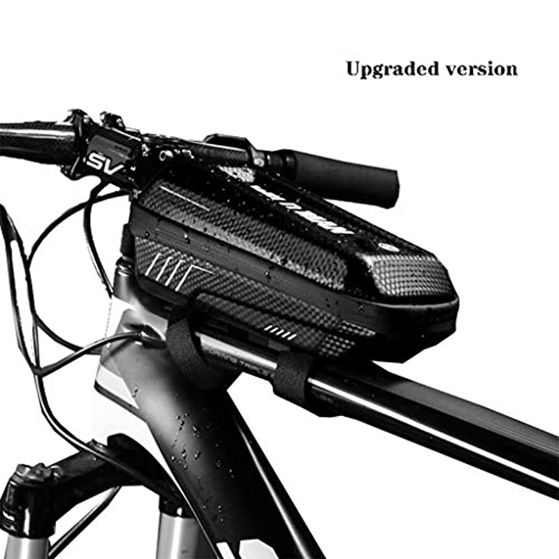 成熟腐敗覚醒自転車バッグ防水フロントサイクリングバッグ6.5インチの携帯電話自転車トップチューブハンドルバーバッグマウンテン乗馬アクセサリー,upgraded version