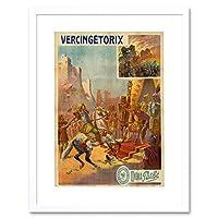 Movie Ad Vintage Vercingetorix Gaul Rome Alesia Pathe Framed Wall Art Print 映画ビンテージローマ壁