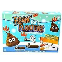 Vjoyファニーバスフィッシングキッズゲーム - 教育的、創造的、感覚的な玩具で、手と手の調整、細かい運動能力の向上、1本の釣り竿、1つのネット、6つのフローターで忍耐力を強化