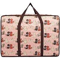 大型ストレージバッグ漫画の猫のパターンポータブル高品質の旅行の主催者防水モイスチャージュのオックスフォード布の布団のキルトの衣類移動仕上げ荷物の収納袋 (サイズ さいず : 70 * 35 * 50cm)