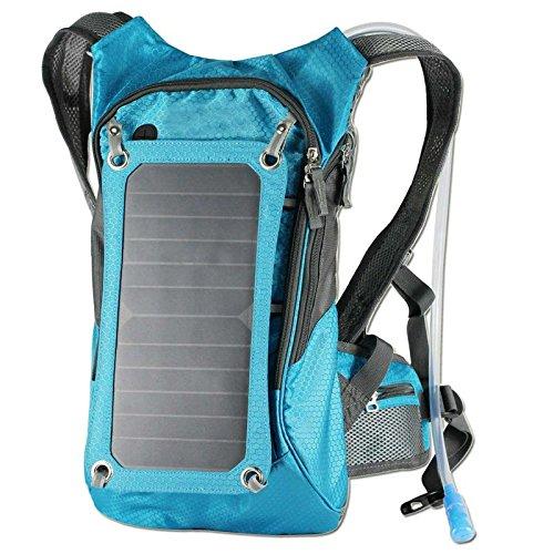 OUTERDO ソーラーバックパック 6.5W太陽エネルギーソーラー 2L水袋搭載 標準的な USB ケーブル 付き