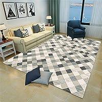2畳ラグ ストライプ 絨毯 現代のシンプルさ 70x180cm 長方形 単純正Nordic 3D幾何学模様スクエアマットリビングルームオフィスベッドルームフルカーペット ラグ ディズニー